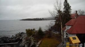 The shore from the Eagle Harbor lighthouse.