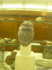 A carved head found near Lake Gogebic.
