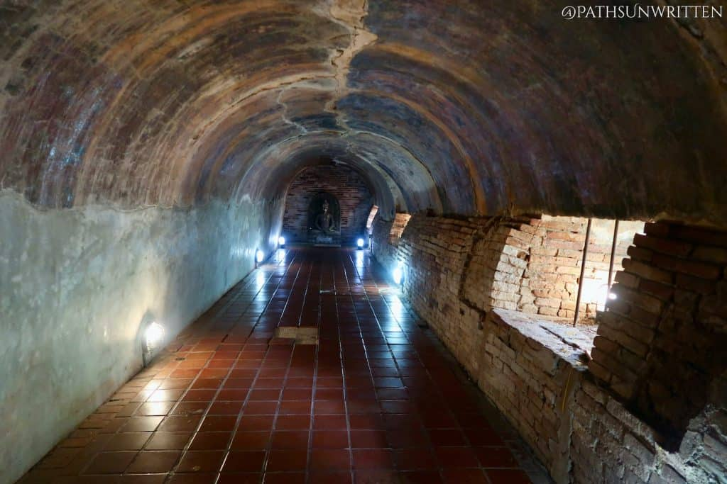 One of the tunnels meant to occupy and contain the monk Jan.