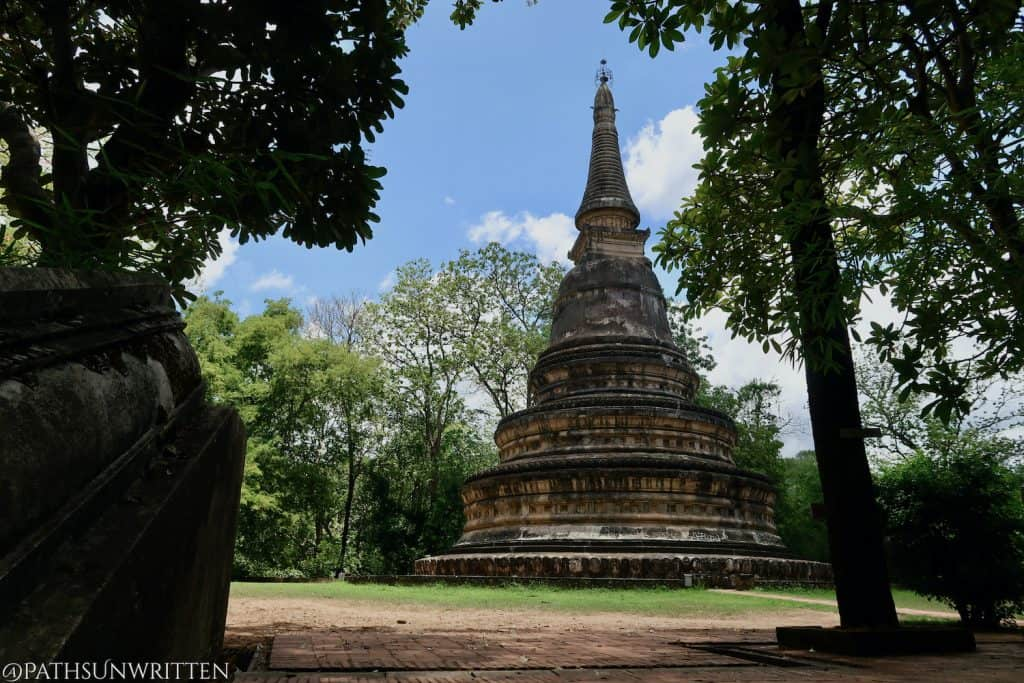 The restored stupa atop Wat Umong's tunnel system.