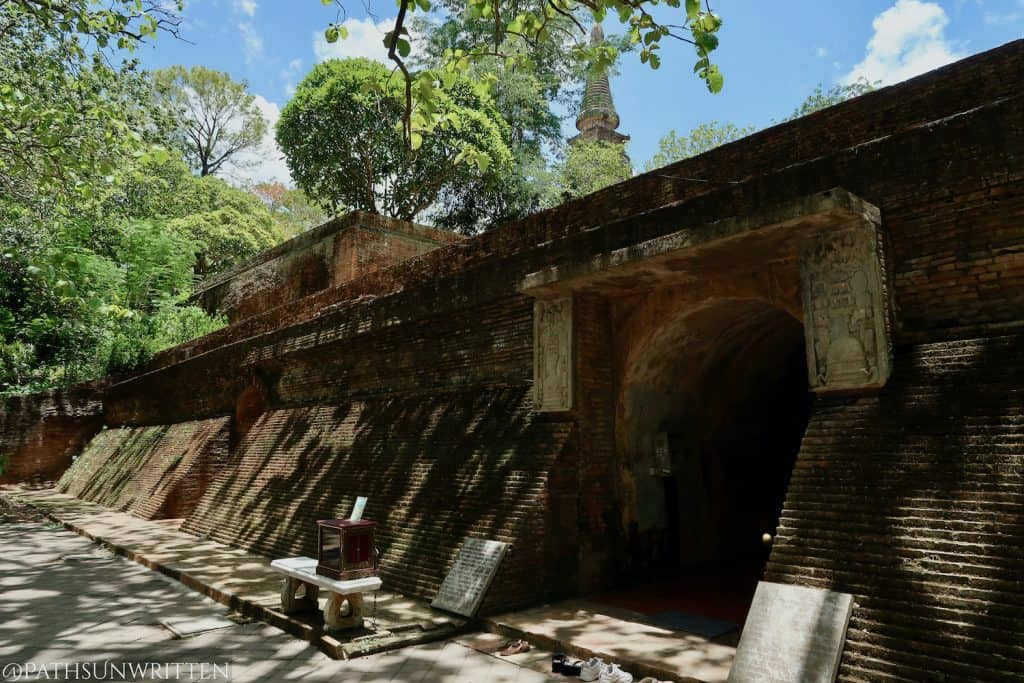 One of three entrances to Wat Umong's tunnels.
