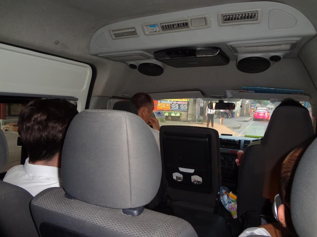 The fantastic view from inside the minibus.