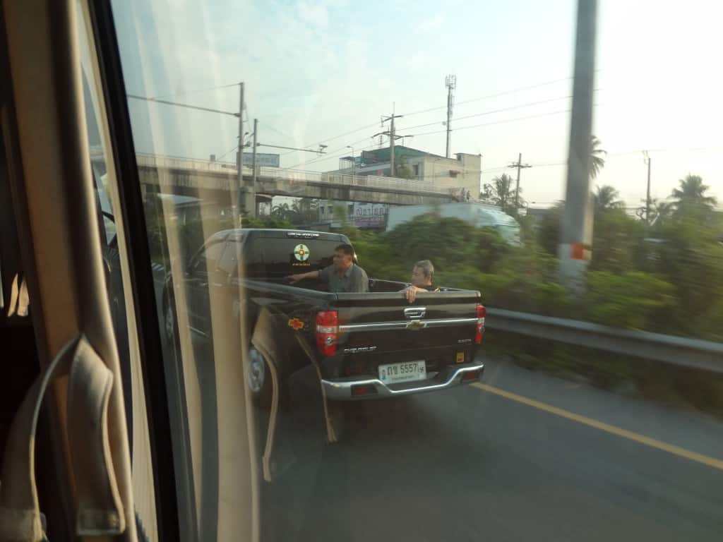A common sight on the highways in the morning.