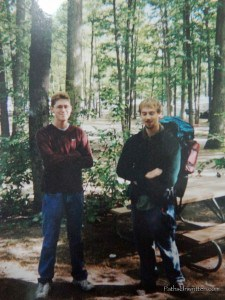 With my friend Jason before embarking on an ill-conceived backpacking trip at 18.