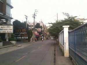 The street where I was hit.