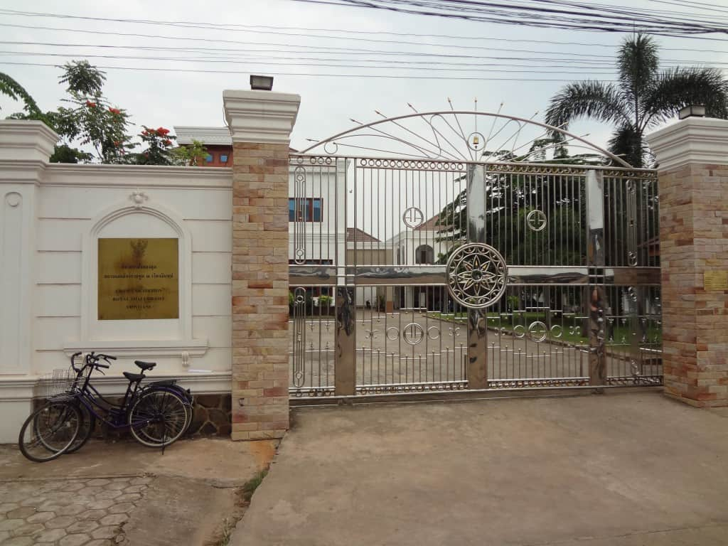 Gates of the Thailand embassy.