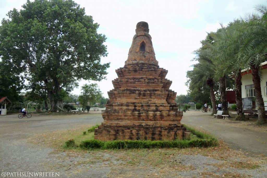 Ruined stupa at Wat Chansen, though not likely from the Dvaravati Period.
