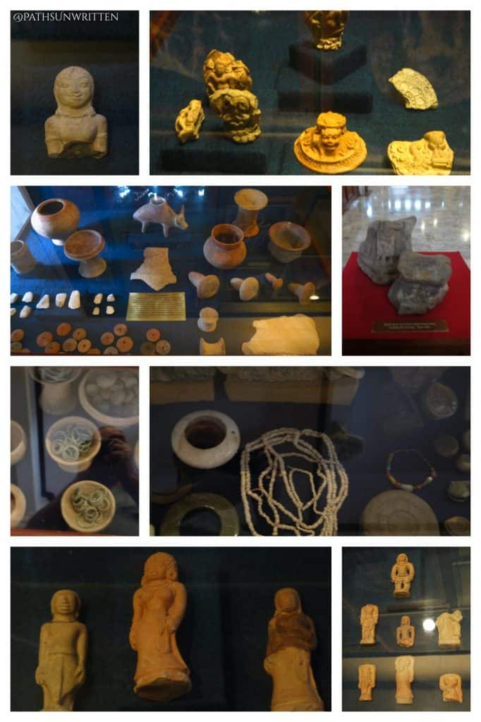 Various figures and artifacts found at Chansen.