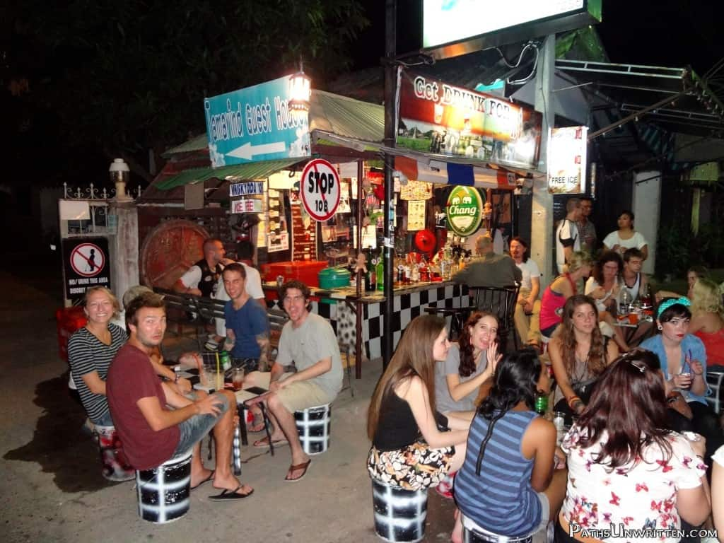 One of the largest crowds I've ever seen at the 10 Baht Drink Stand.