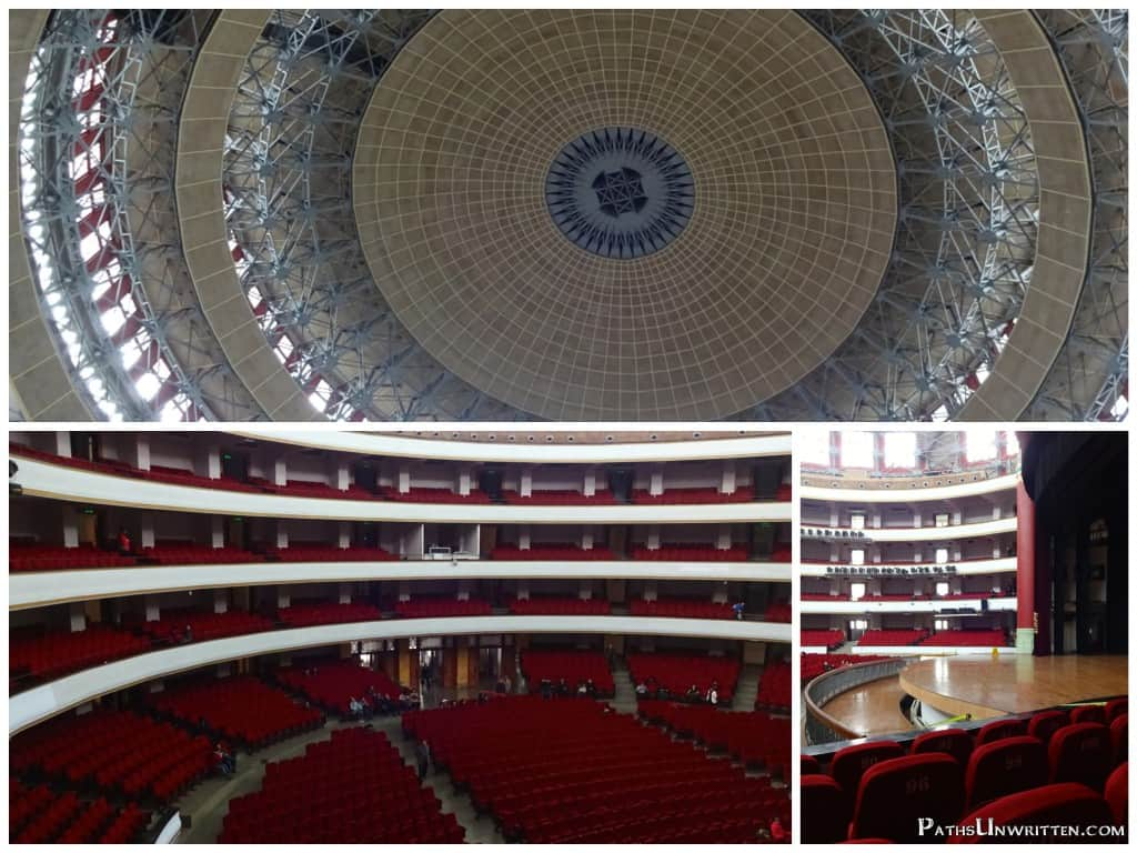 Shots of various parts of the auditorium.