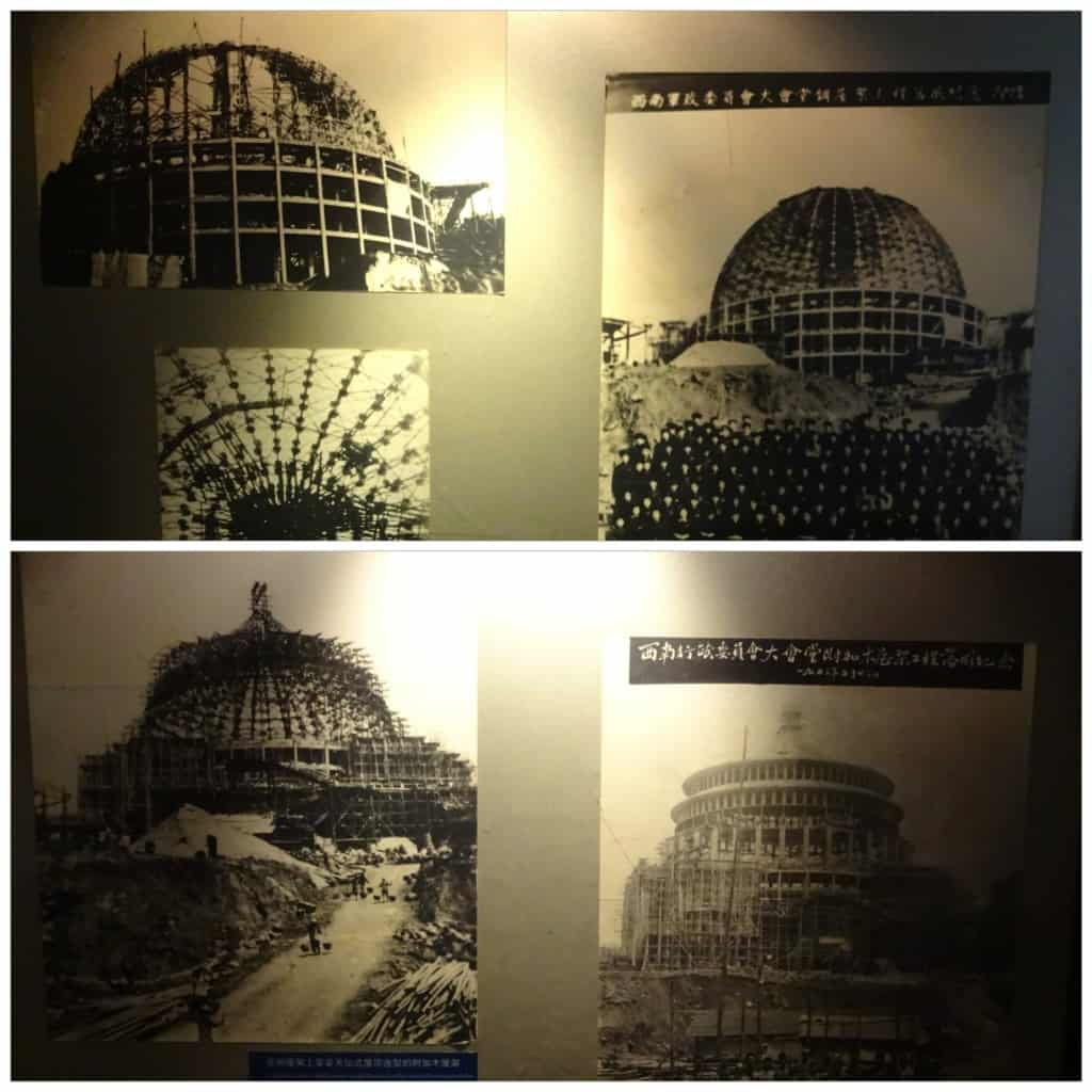 Stages of the Great Hall's construction.