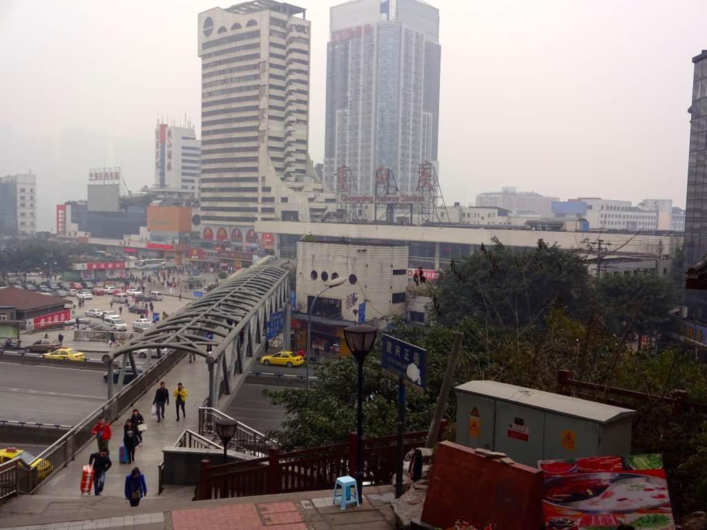 The train station below Lianglukou.