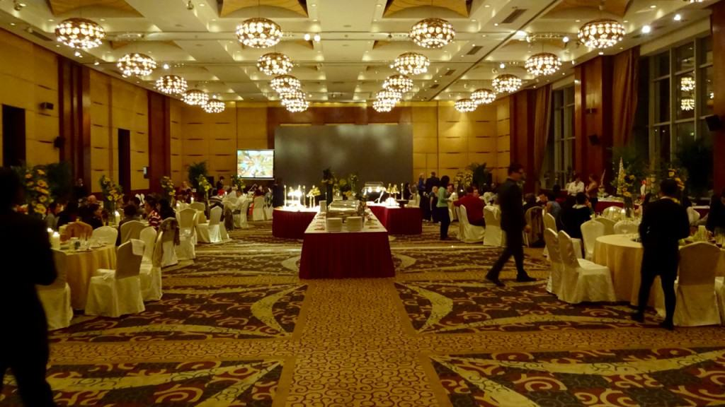The Intercontinental Hotel's Ballroom.
