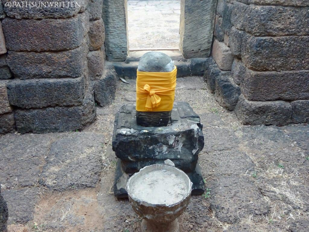 The yoni and lingam, traditional symbols of Shiva in Khmer temples.