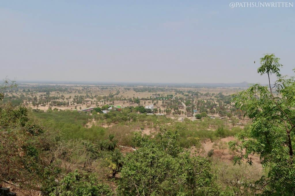The Gaya countryside from atop the Dungeshwari Cave Temple