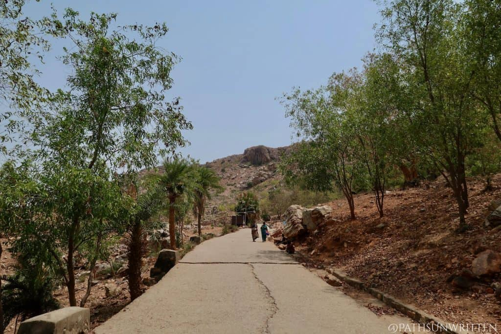 Newly-built path to the Dungeshwari Caves