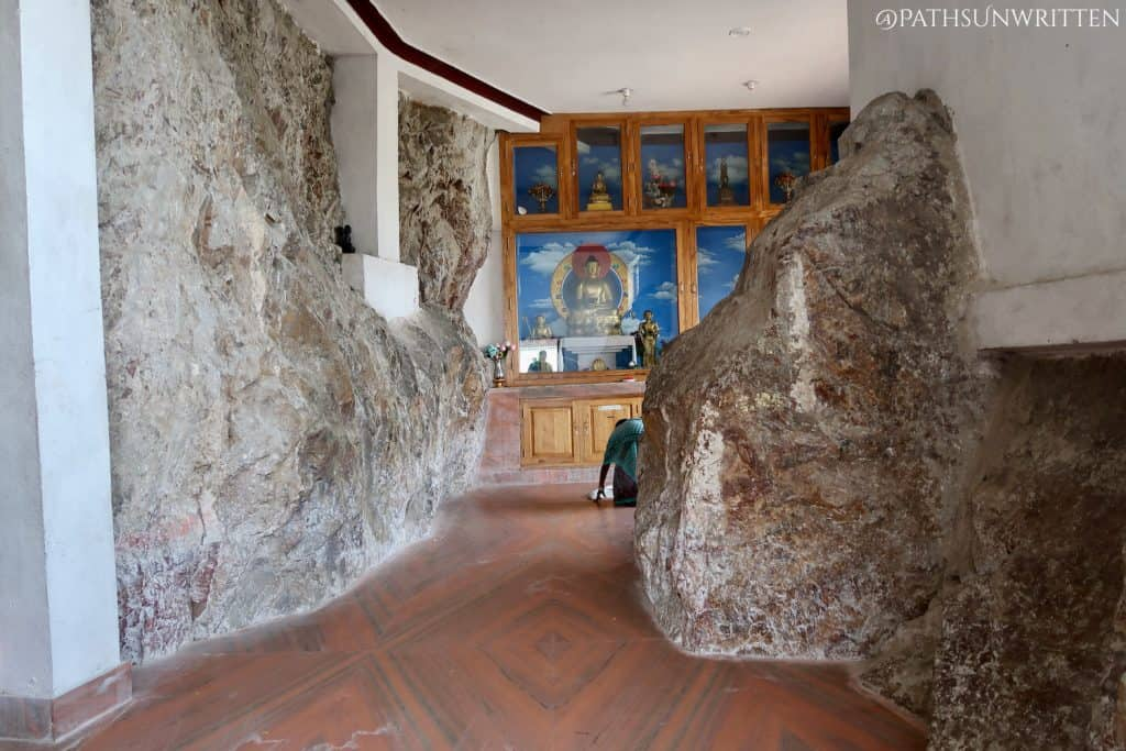 """Inside the larger """"cave"""" temple"""