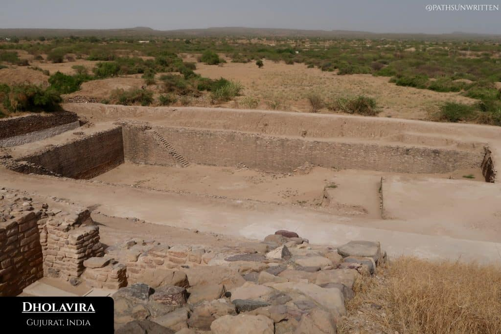 Dholavira shows city planning uncharacteristic of its age, with uniform bricks, city walls and an intentional port.