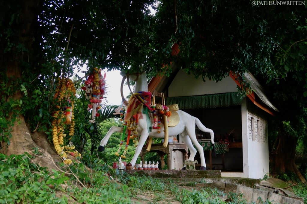 "The horse shrine atop the Lampang city wall's Pratu Ma, or ""Horse Gate""."