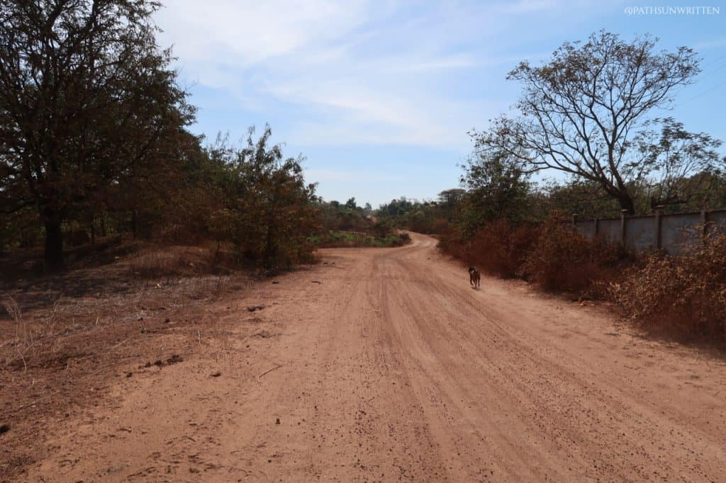 The final stretch of road is 5 km of sometimes rough gravel road.