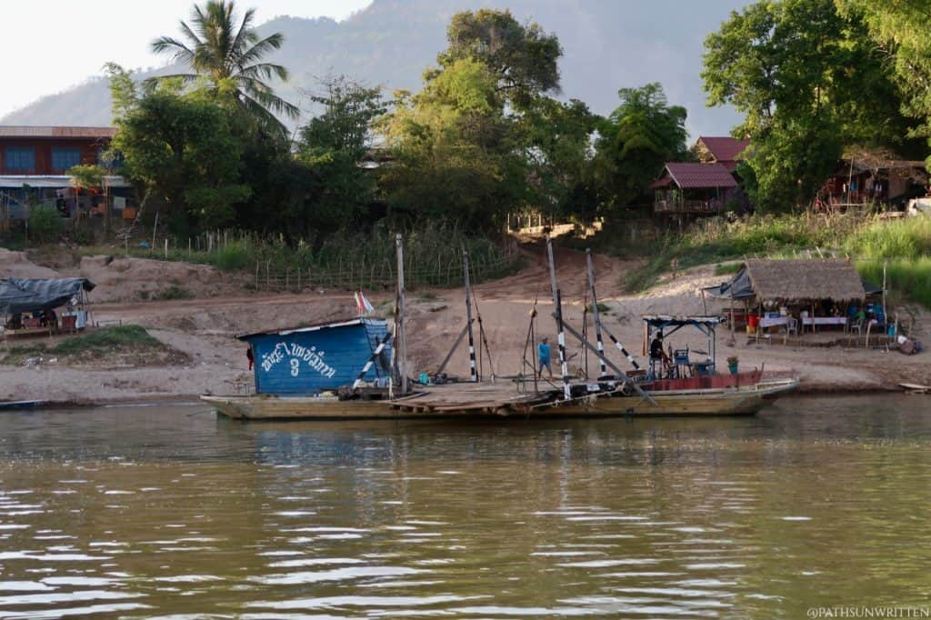 The ferry dock on the north end of Champasak Town. It costs 20,000 LKP and can accommodate motorbikes.