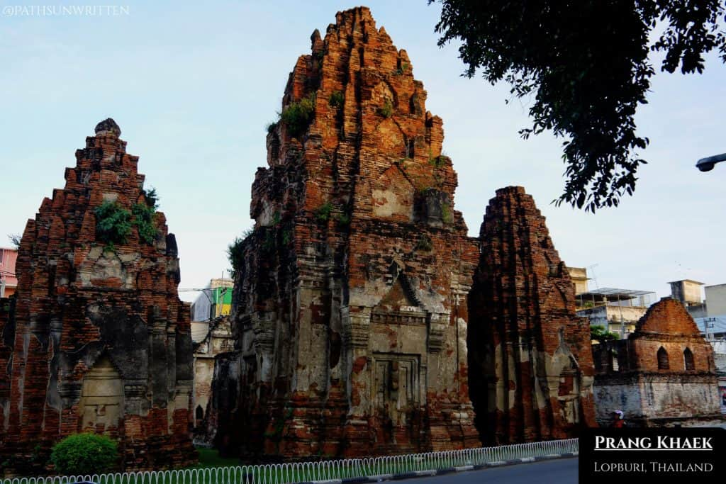 The Angkorian Prang Khaek is the oldest standing monument in Lopburi.