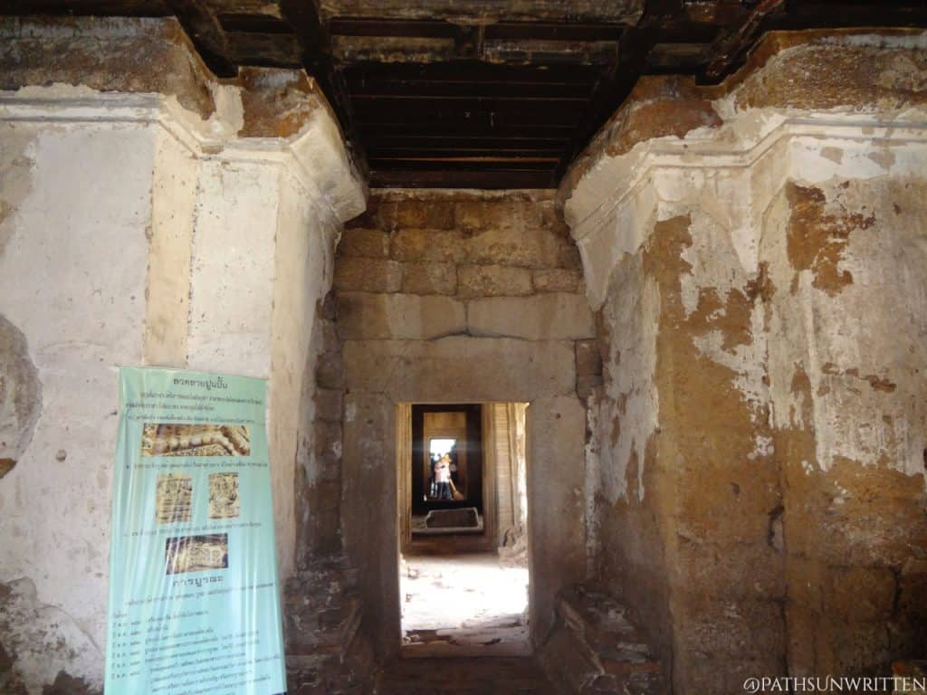 Passage inside the temple.