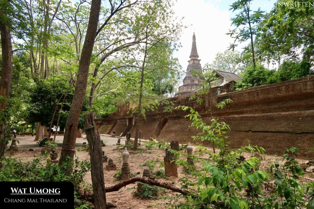 The forest setting and tunnels of Wat Umong give provide the visitor a very different atmosphere.