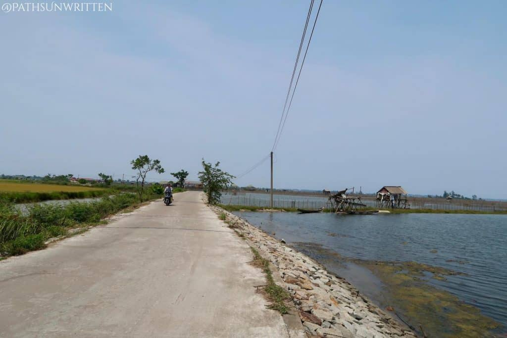 Roads through some of Huế's fisheries on the way to Thuận An.