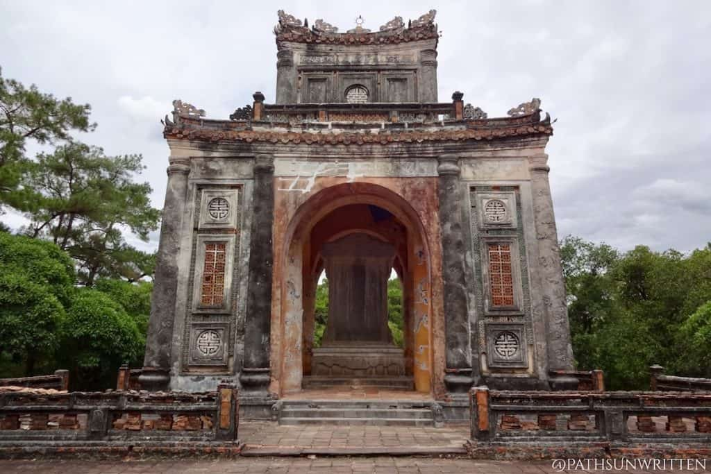 Emperor Tự Đức's tomb is located south of the Huế walled citadel