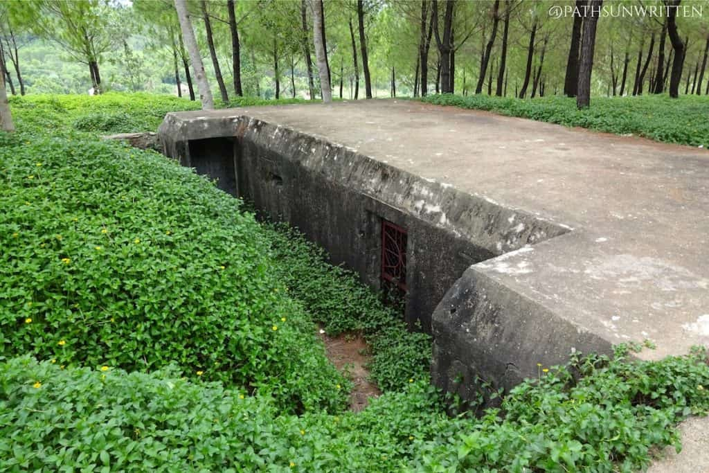 The American bunkers in the forests south of Huế hold a commanding view over the Perfume River