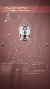 Reconstruction of the Phra Saenswae image in its original seated position.