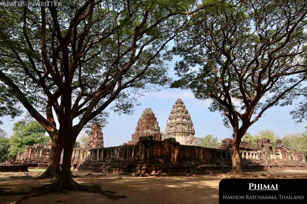 The walled city of Phimai fortified the Khmer Empire's influence over the Isaan frontier.