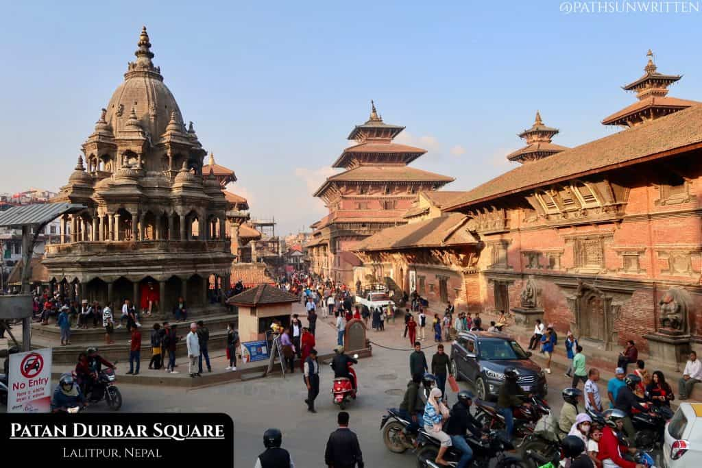 Patan Durbar Square was the royal square of one of three ancient Nepalese kingdoms in the Kathmandu Valley.