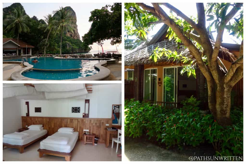 Isolated by sheer cliffs, the Railay Bay Resort hosts a secluded, beautiful beach only minutes from the mainland.