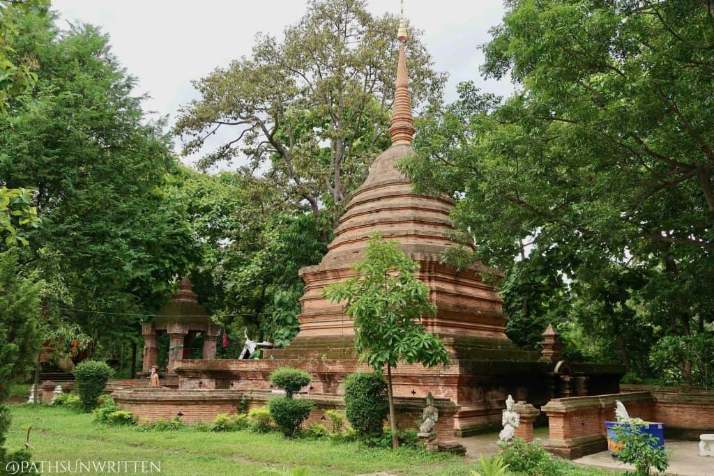 The stupa at Wat Moo Boon.