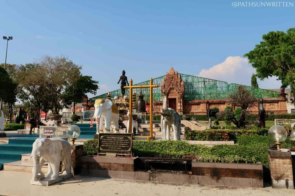 The Camadevi Monument inside the Lamphun (Hariphunchai) city wall.