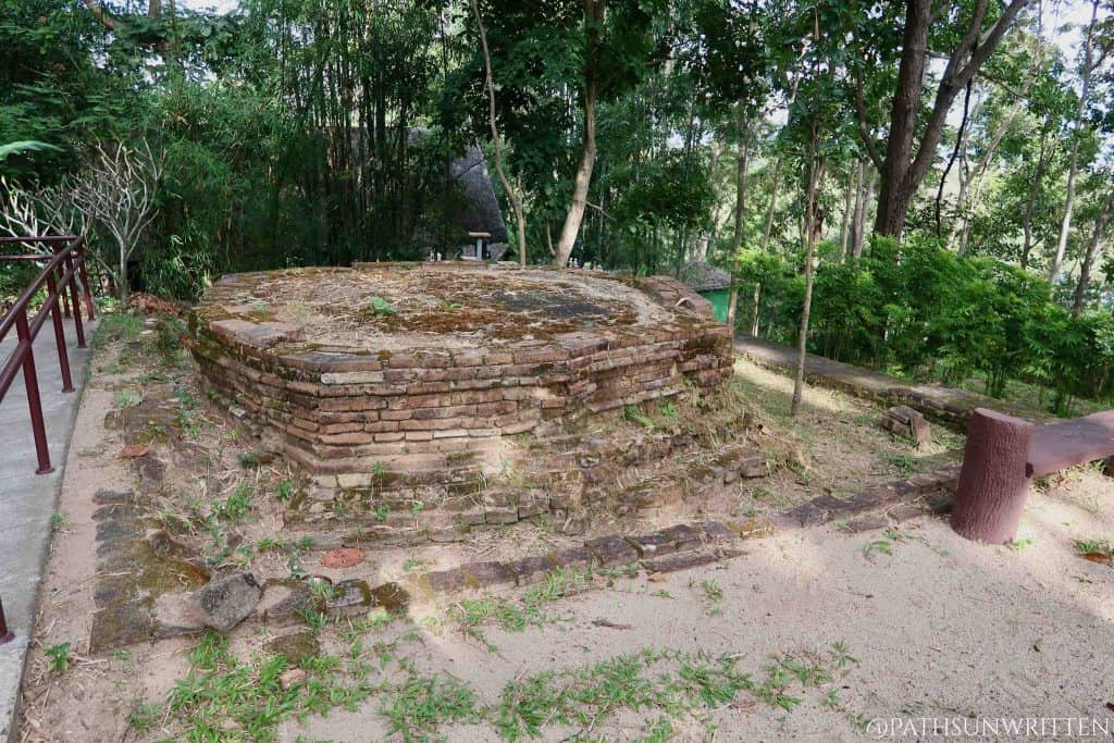 Remains of an ancient stupa at Wat Ku Din Khao.