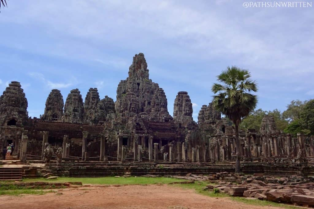 The Bayon monument in Angkor Thom in Cambodia