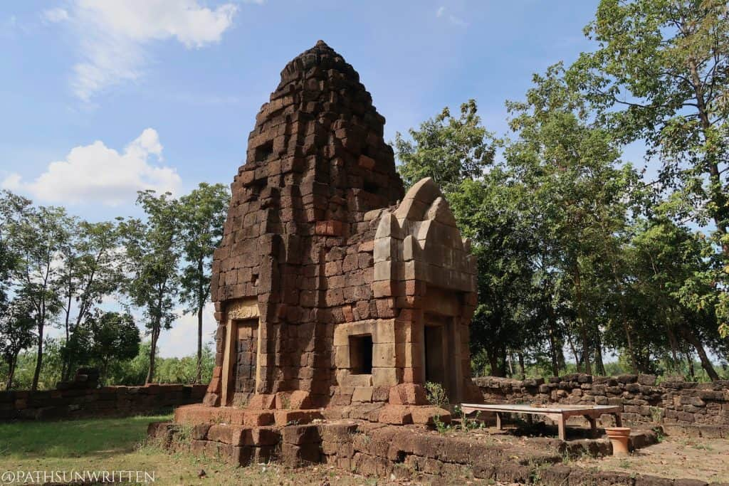 The central prang of Prasat Ta Muen Tot located at the Cambodian border in Thailand's Surin province.