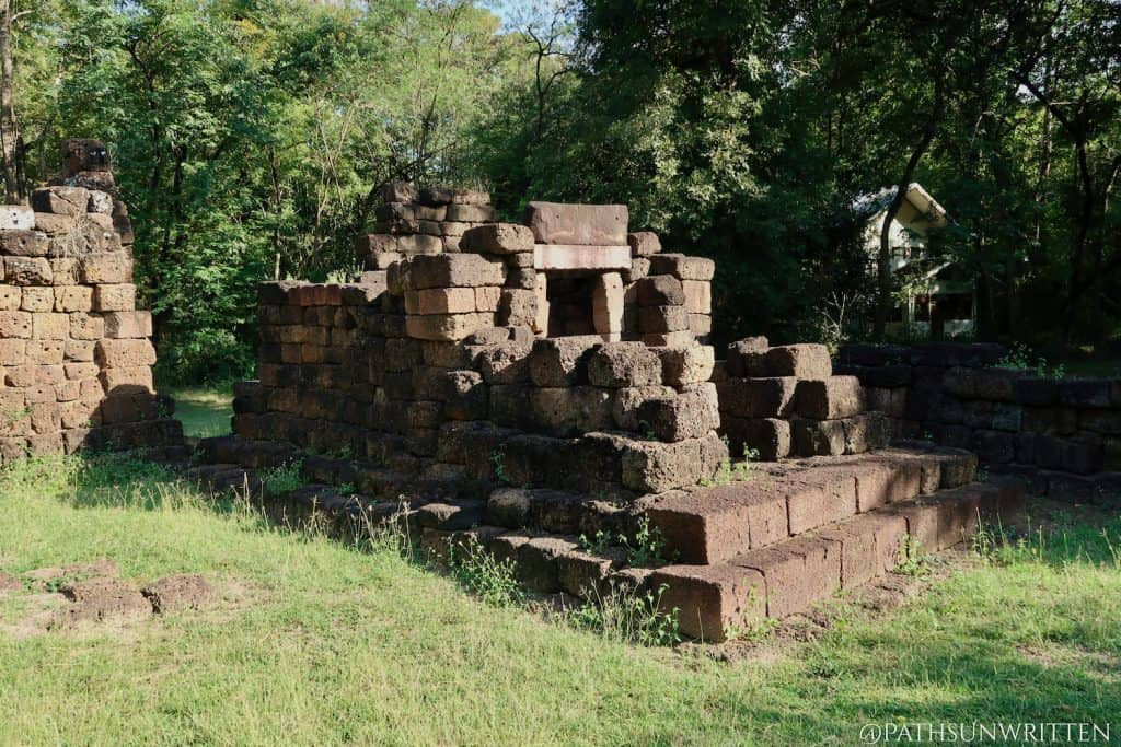Ruined bannalai library at Prasat Chom Phra in Surin province, Thailand.