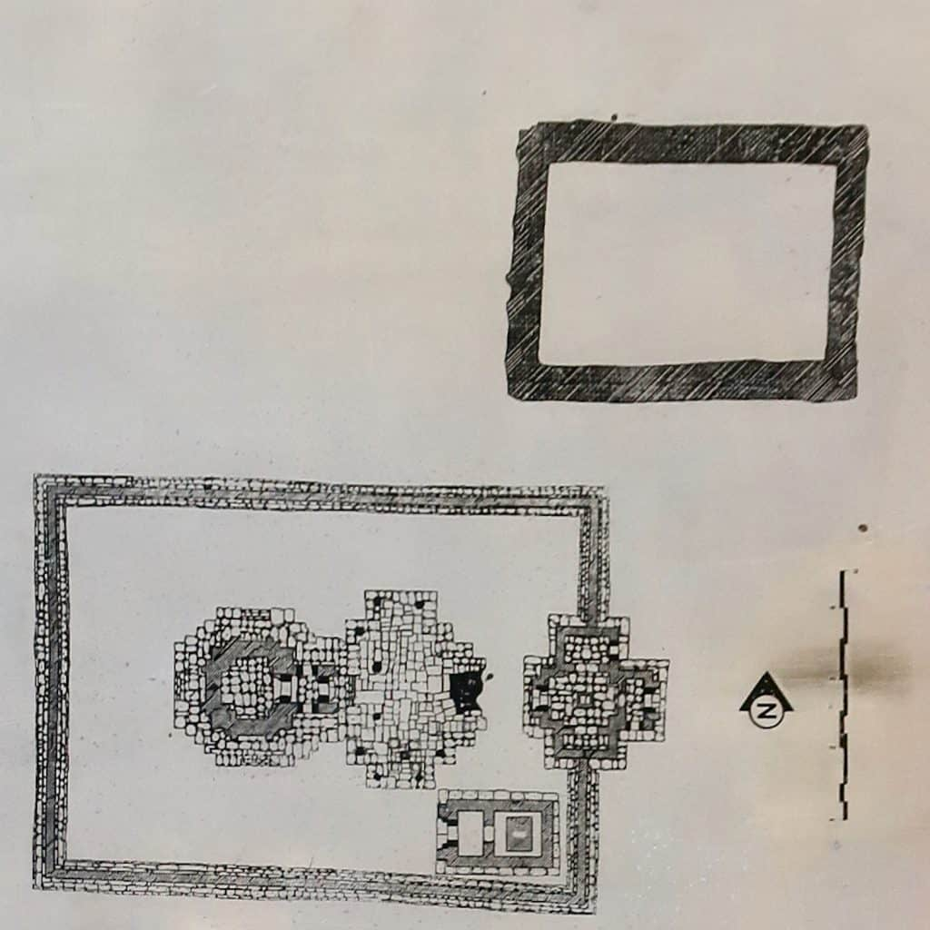 The general plan of all arogayasala hospital temples.