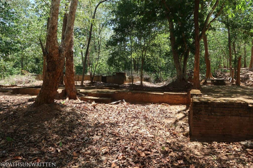 Ruined foundations of Wat Phra Non.