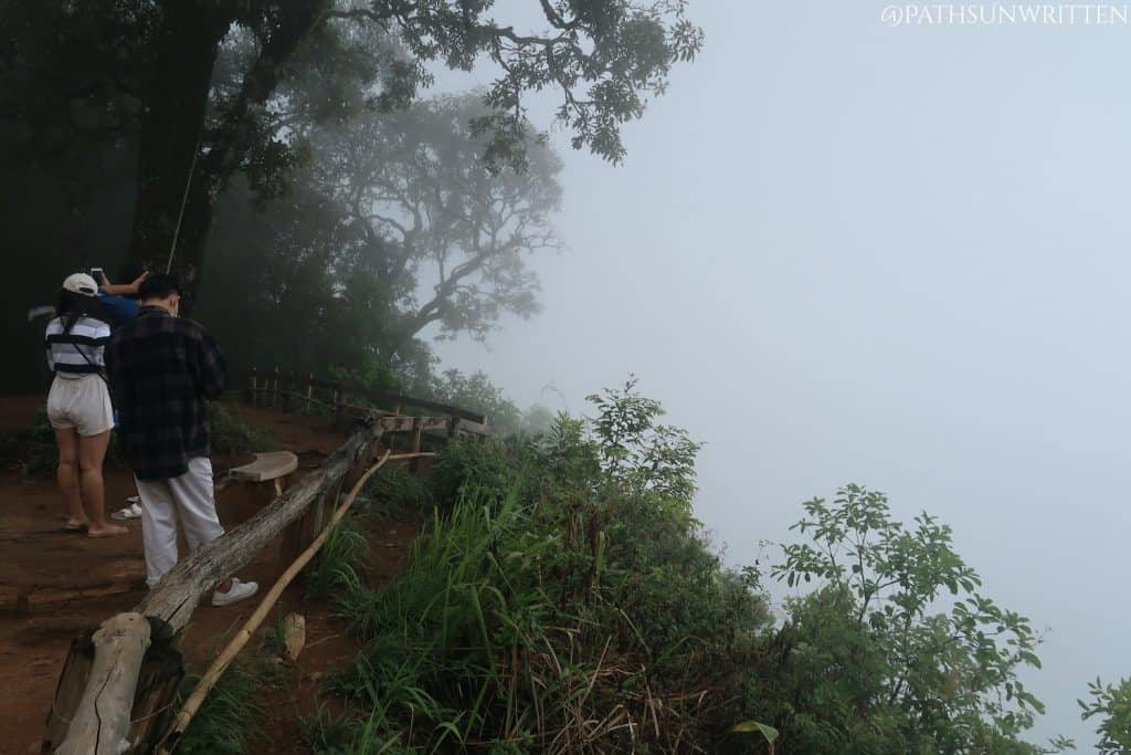There was zero visibility from the Doi Pui viewpoint this morning.