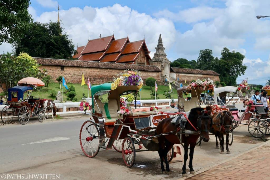 Horse carriages can be found in parts of Lampang in lieu of Thailand's iconic tuk-tuks.