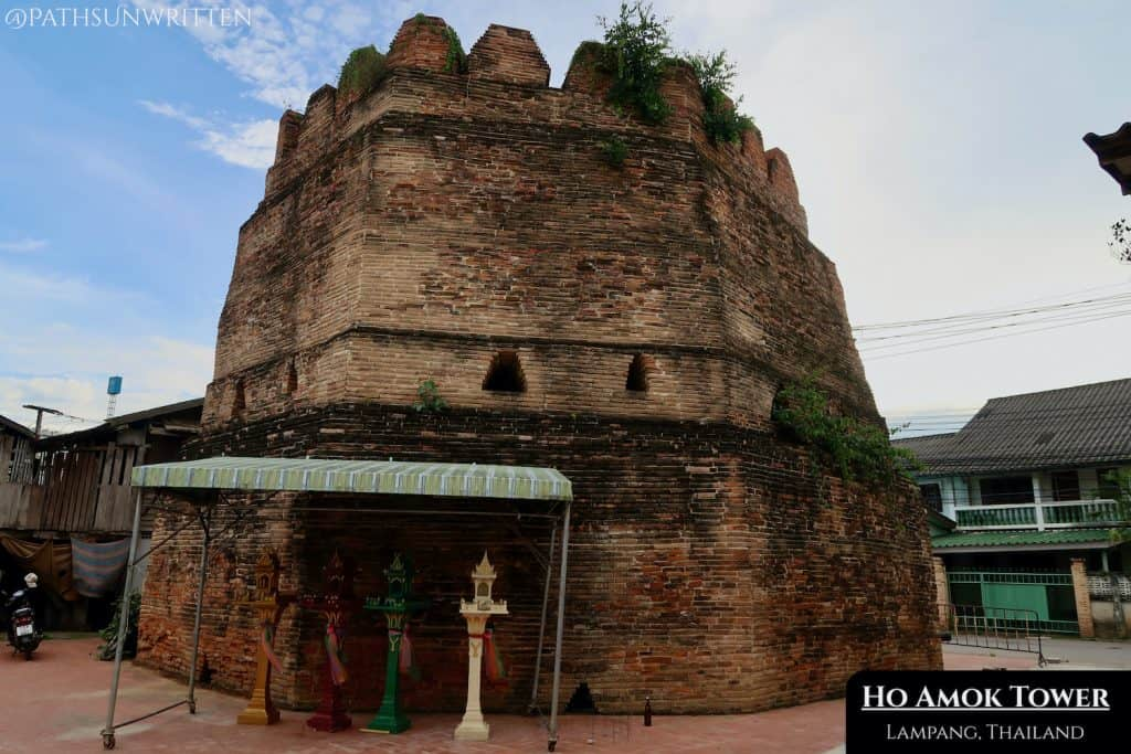 The Ho Amok tower was built in 1808 CE to defend against the Burmese.