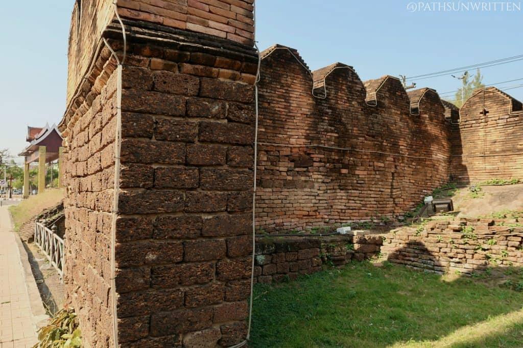 Original sections of he Pratu Mahawan western city gate.