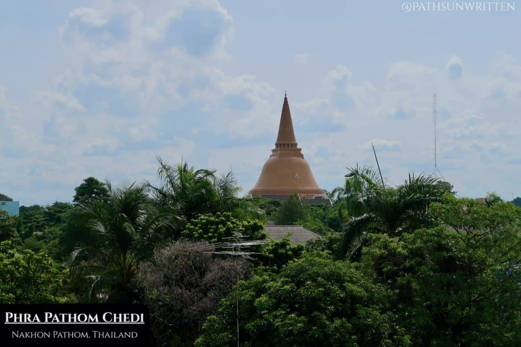The Phra Pathom Chedi is among the most famous Buddhist monuments in Thailand.