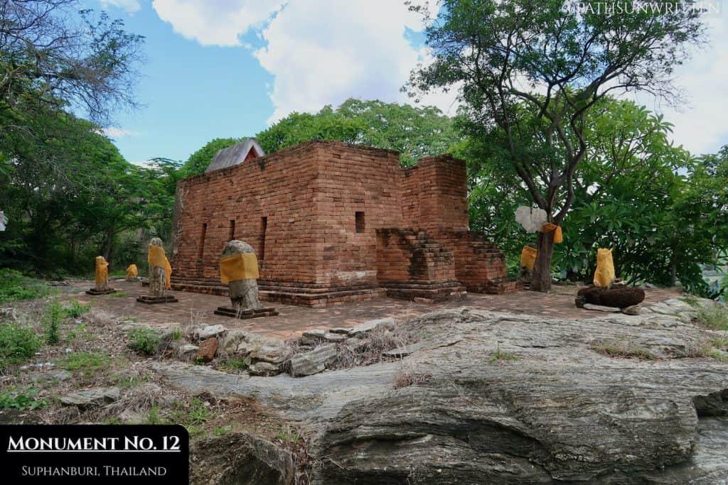 Sema stones surronding Monument No. 12 at U Thong.