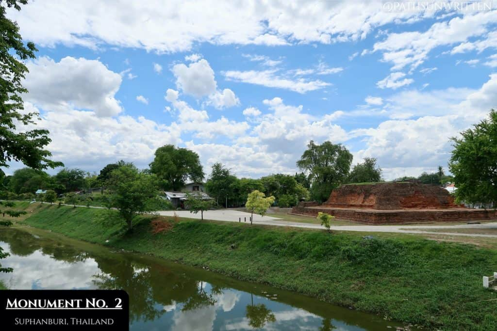 Monument No. 2 and the northern City moat at U Thong, Suphanburi Province.